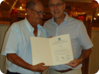 General Director receiving HACCP certificate