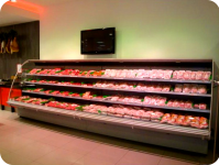 Retail outet Choi's Noord Supermarket (fresh meat section)